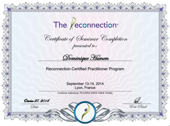 Diplome reconnexion dominique humen